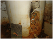 Rusted old water heater